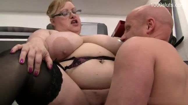 Busty girl deepthroat cum swallow